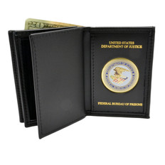Federal Bureau of Prisons Medallion Double ID Credential Wallet