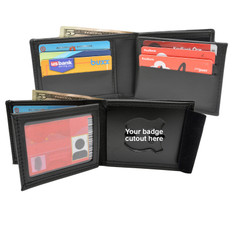 Billfold Wallet w/ Money Pocket, 6 Credit Card Slots, Flipping ID