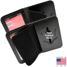 Duty Leather Book Style Single ID & Badge Case