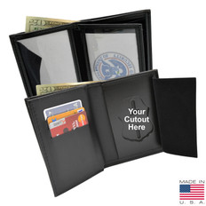 Federal Style Badge & Double ID Wallet with 3 Credit Card Slots