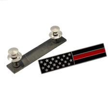 Subdued American Flag Red Line Firefighter Citation Bar