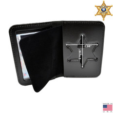 Sheriff 6 Point Star Badge Case - Duty Leather - Book Style