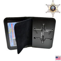 Sheriff 6 Point Star Badge Case - Duty Leather - Book Style B812 S534
