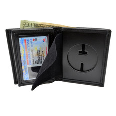 Perfect Fit Round Cutout Badge Wallet - Texas Peace Officer