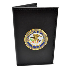 DOJ Medallion Double ID Leather Credential Case