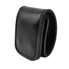 1.75 Inch Double Wide Leather Belt Keeper - Hidden Snap
