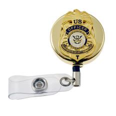 TSA Officer Retractable Badge Reel ID Holder