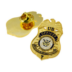TSA Officer Mini Badge Lapel Pin
