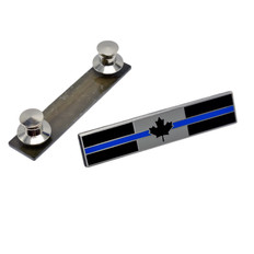 Canadian Thin Blue Line Citation Bar Lapel Pin