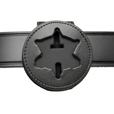 Midland TX Sheriff Recessed Belt Clip Badge Holder with Pocket and Chain