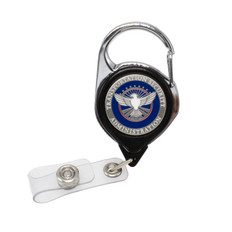 TSA Officer Patch Carabiner Retractable Badge Reel