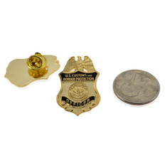 DHS CBP Officer Mini Badge Lapel Pin
