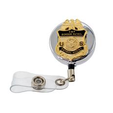 DHS U. S. Border Patrol Agent Retractable Badge Reel ID Holder