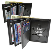 Perfect Fit Model 104-A Badge Wallet - Custom Cutout - Double ID