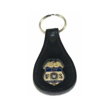 ATF Alcohol Tobacco Firearms and Explosives Special Agent  Leather Key FOB