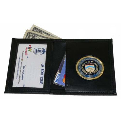 ATF Alcohol Tobacco Firearms & Explosives Leather Wallet with Medallion
