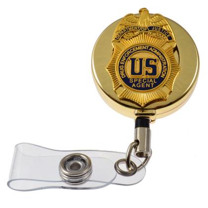 DEA Drug Enforcement Administration Special Agent Retractable ID Holder