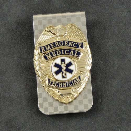 EMT Emergency Medical Technician Mini Badge Money Clip
