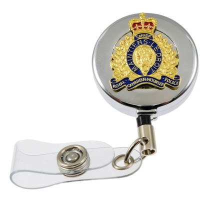 RCMP GRC Royal Canadian Mounted Police Crest Retractable Badge Reel
