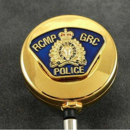 RCMP GRC Patch Retractable Badge Reel ID Holder