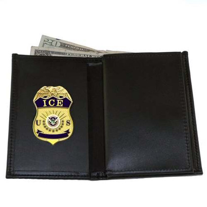 perfect fit Homeland security ICE HSI Leather Badge and Credential Case