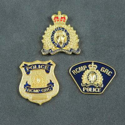Canada RCMP GRC Badge/Patch/Crest Lapel Pin Set