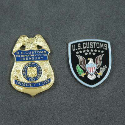 US U S Customs Inspector Commemorative 2 Pin Set