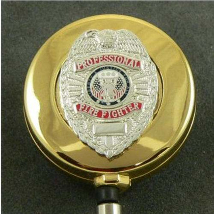 Professional Firefighter Retractable ID Badge Reel