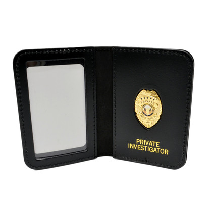 Private Investigator Mini Badge ID Wallet