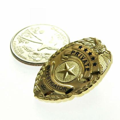 Private Investigator Mini Badge Lapel Pin