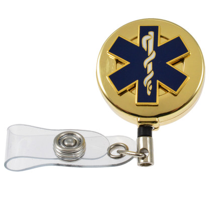 Star of Life EMS EMT Retractable ID holder