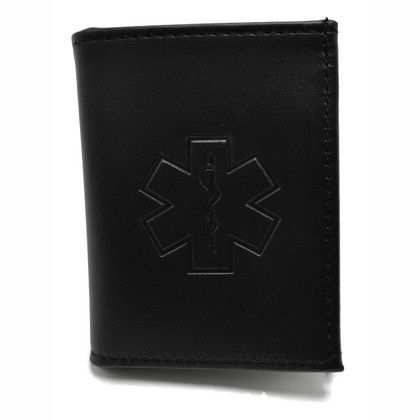 Star of Life EMT Paramedic Wallet w/ CC slots & ID Window