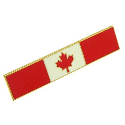 Canadian Flag Police Uniform Citation Bar Lapel Pin