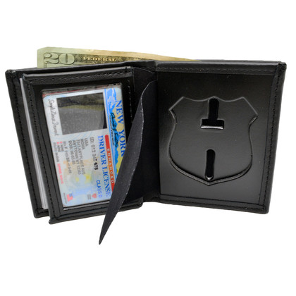 NYPD New York Police Department Officer Leather Badge Wallet