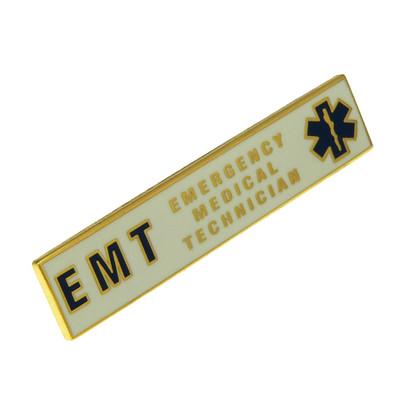 EMT Emergency Medical Technician Uniform Citation Bar Lapel Pin