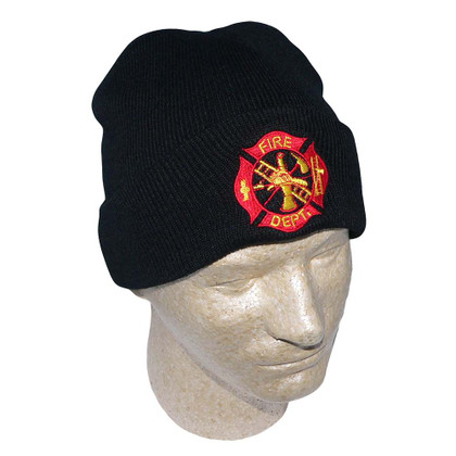 Fire Department Embroidered Watch Cap