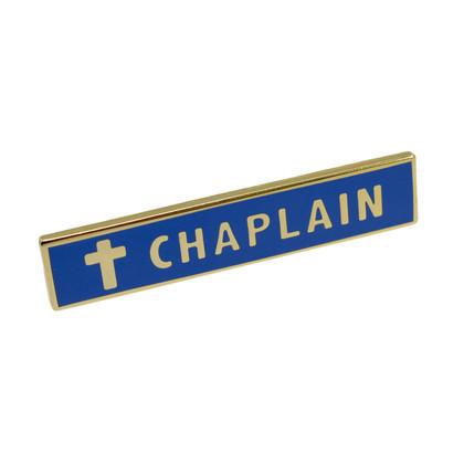 Chaplain Police Uniform Citation Bar Lapel Pin