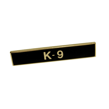 K-9 Canine Police Uniform Citation Bar Lapel Pin