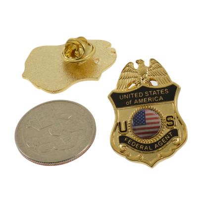 Federal Agent Police Mini Badge Lapel Pin