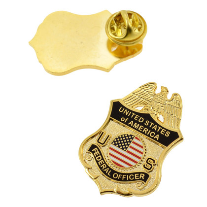Universal Federal Officer Police Mini Badge Lapel Pin