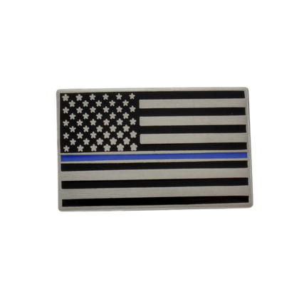 Thin Blue Line Subdued US Flag Pin