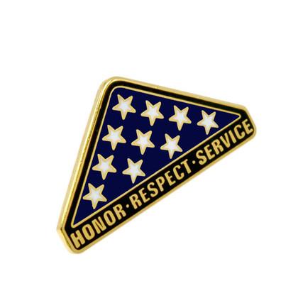 Folded U.S. Flag Memoriam Lapel Pin