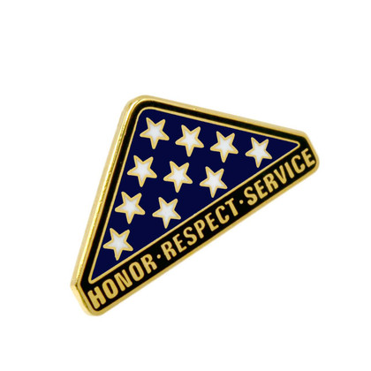 Folded U.S. Flag Memoriam Lapel Pin