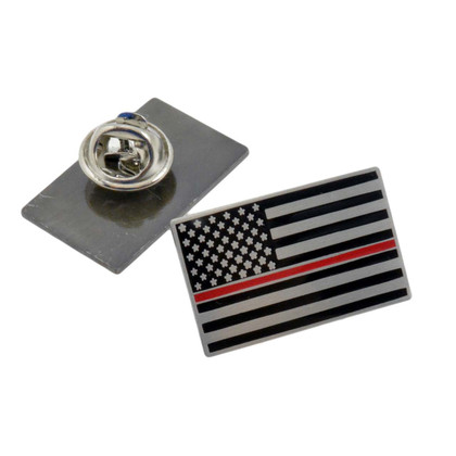Thin Red Line Subdued US Flag Lapel Pin