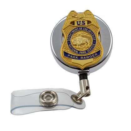 National Park Service Park Ranger Retractable Badge Reel ID Holder