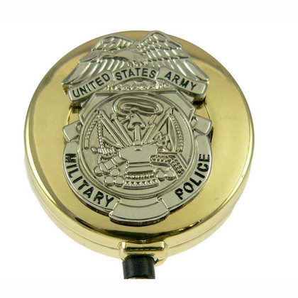 US Army Military Police Badge Retractable Badge Reel