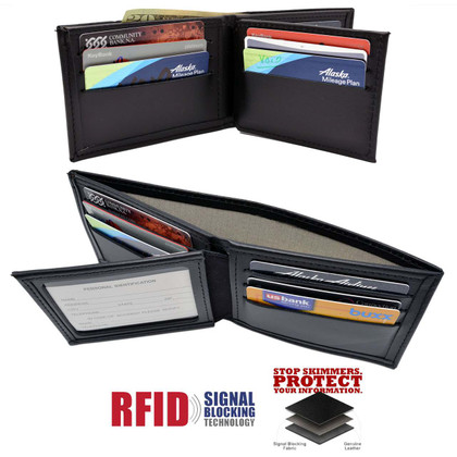 RFID Blocking Bifold Credit Card Wallet Black
