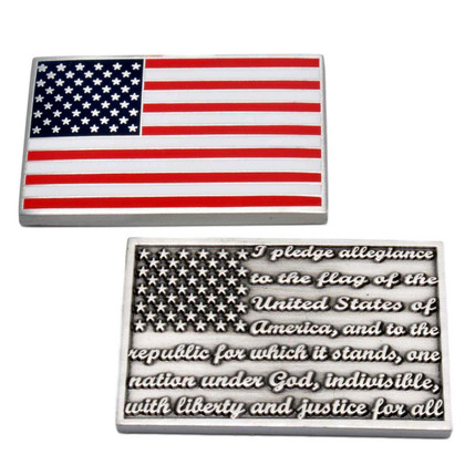 Pledge of Allegiance US Flag Challenge Coin