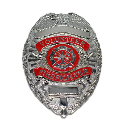 Volunteer Firefighter Silver Badge