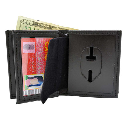 Florida Department of Corrections Leather Hidden Badge Wallet Perfect Fit 104